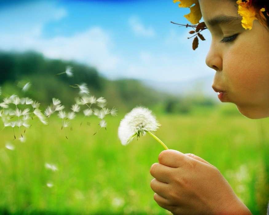 Descargar la imagen en teléfono: Personas, Flores, Niños, Dientes ...