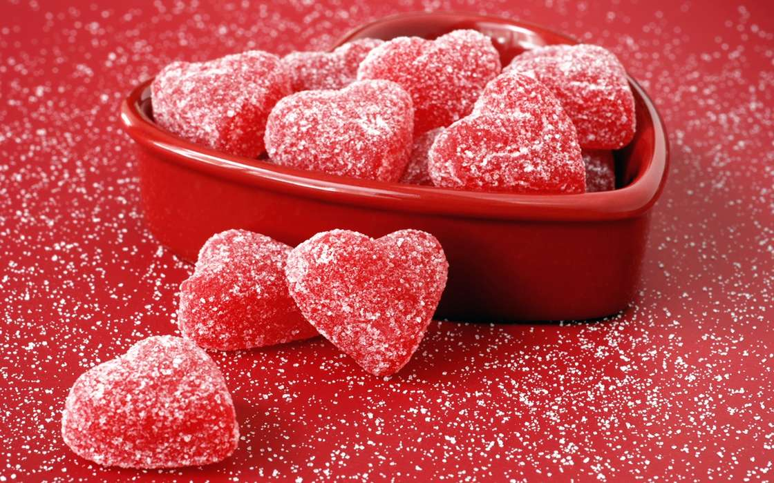 Download mobile wallpaper Holidays, Food, Hearts, Love, Valentine's day for free.