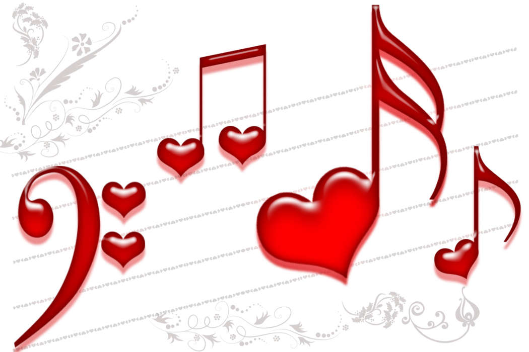 Download mobile wallpaper Music, Holidays, Background, Hearts, Love, Valentine's day for free.