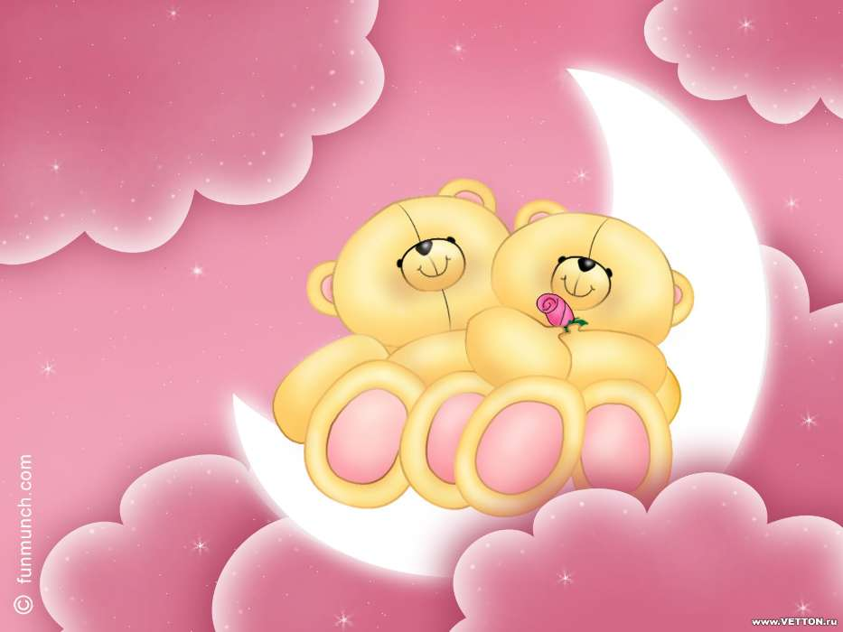 Download Bilder Für Das Handy Clouds Mond Bären Liebe