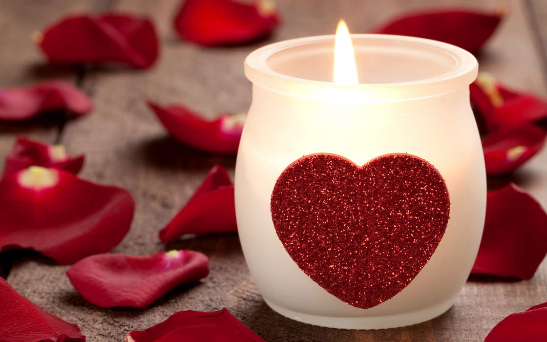 Download mobile wallpaper Holidays, Hearts, Love, Valentine's day, Candles for free.