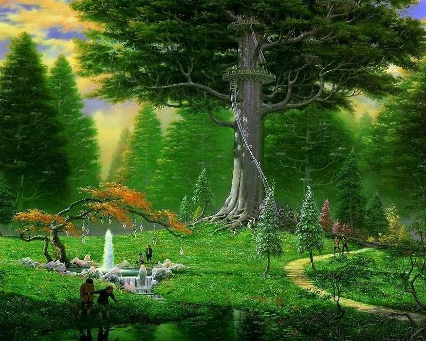 клуб, картинки деревьев из сказочного леса бумагу годами воздействует