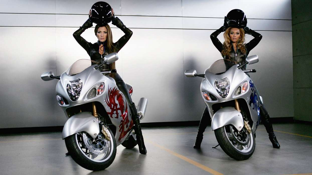 Download mobile wallpaper People, Girls, Motorcycles for free.