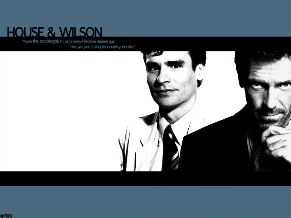 Download mobile wallpaper Cinema, People, Men, House M.D., Hugh Laurie, Robert Sean Leonard for free.