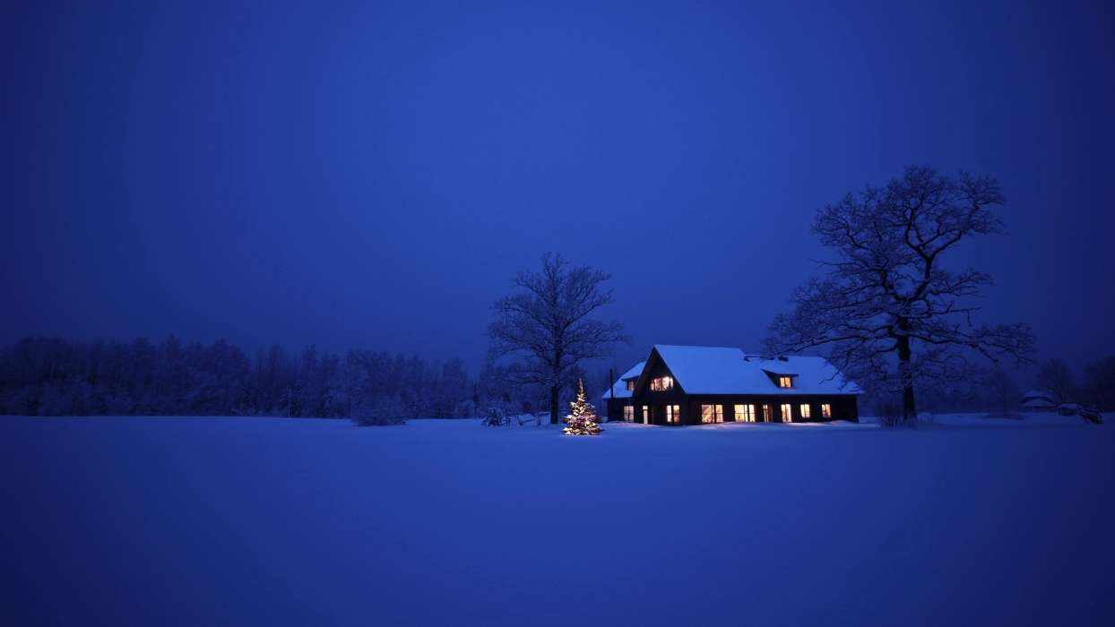 Download mobile wallpaper Holidays, Landscape, Winter, Houses, New Year, Snow, Christmas, Xmas for free.