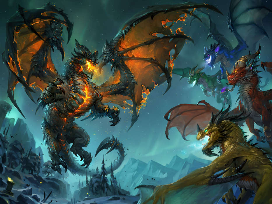 Download mobile wallpaper Fantasy, Dragons for free.