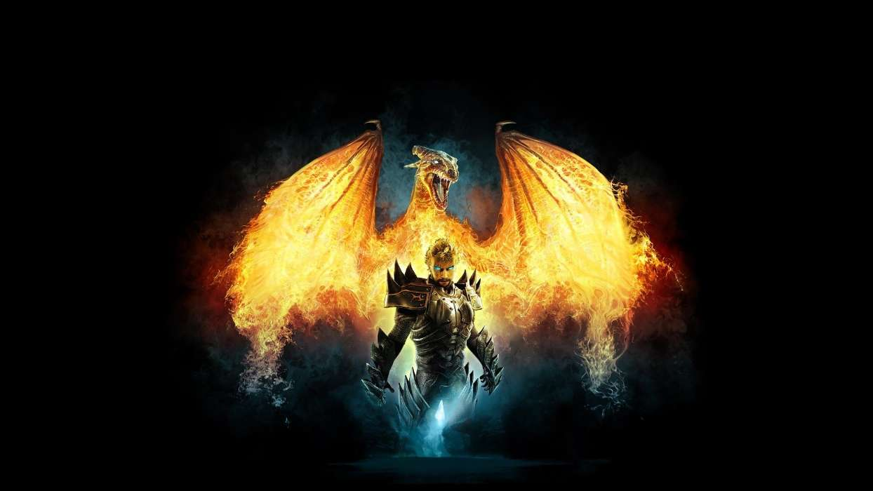 Download mobile wallpaper Fantasy, Dragons, Fire for free.