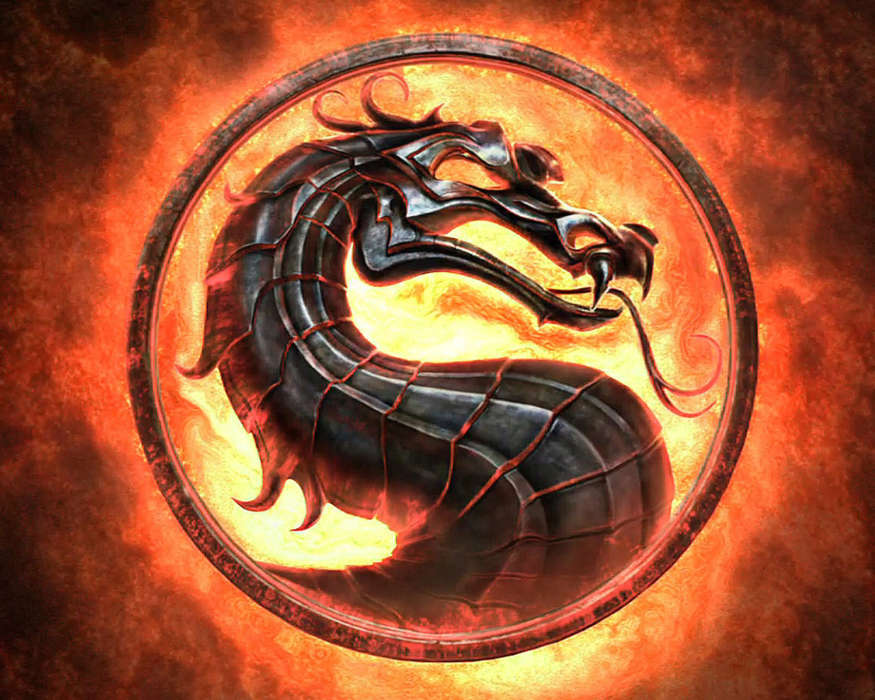 Download mobile wallpaper Games, Logos, Dragons, Fire, Mortal Kombat for free.