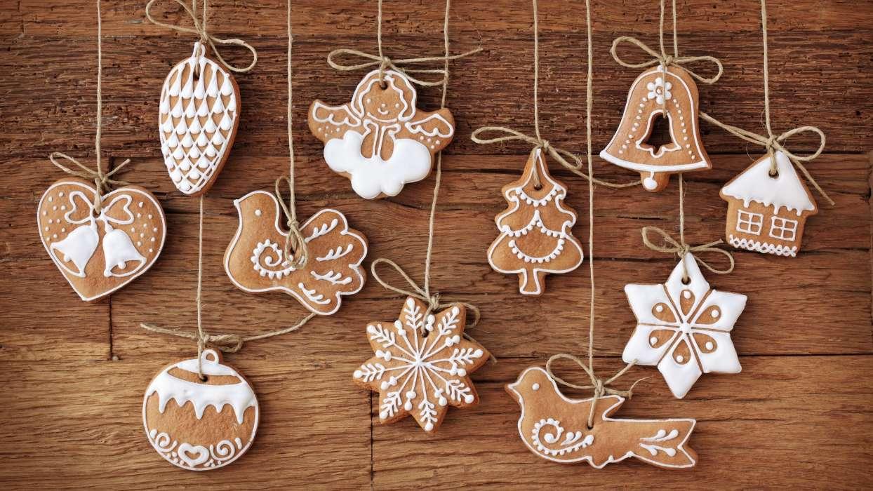 イメージを携帯電話にダウンロード 祝日 食品 クリスマス クッキー