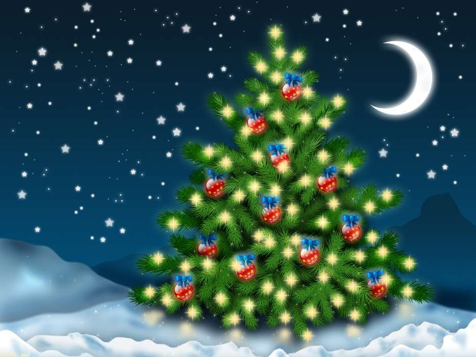 Download mobile wallpaper Holidays, Winter, Background, New Year, Snow, Fir-trees, Christmas, Xmas for free.