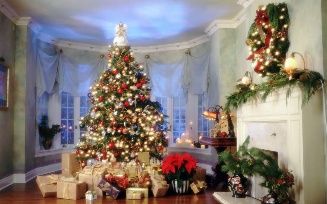Download mobile wallpaper Holidays, New Year, Fir-trees, Christmas, Xmas, Postcards for free.