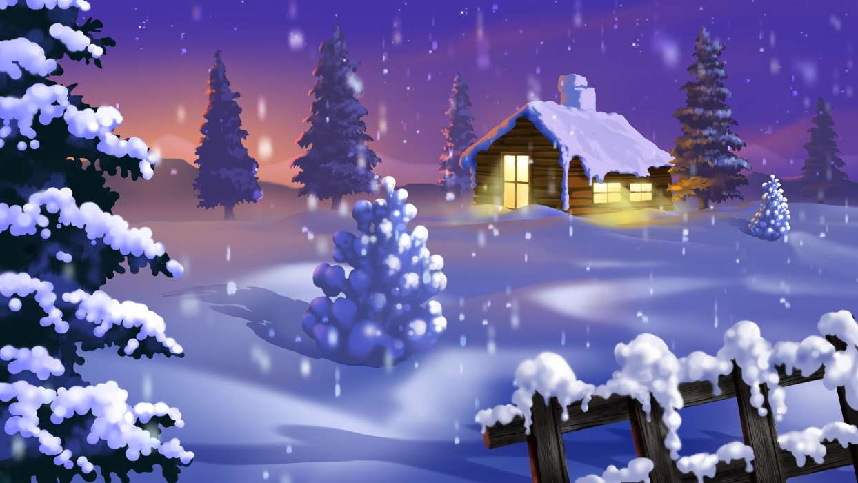 Download mobile wallpaper Landscape, Winter, New Year, Snow, Fir-trees, Christmas, Xmas, Pictures for free.