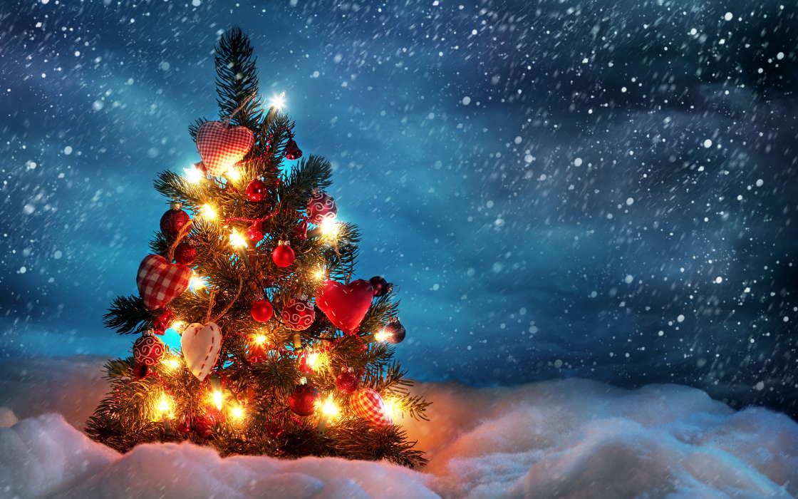 Download Bilder für das Handy: Feiertage, Neujahr, Schnee ...
