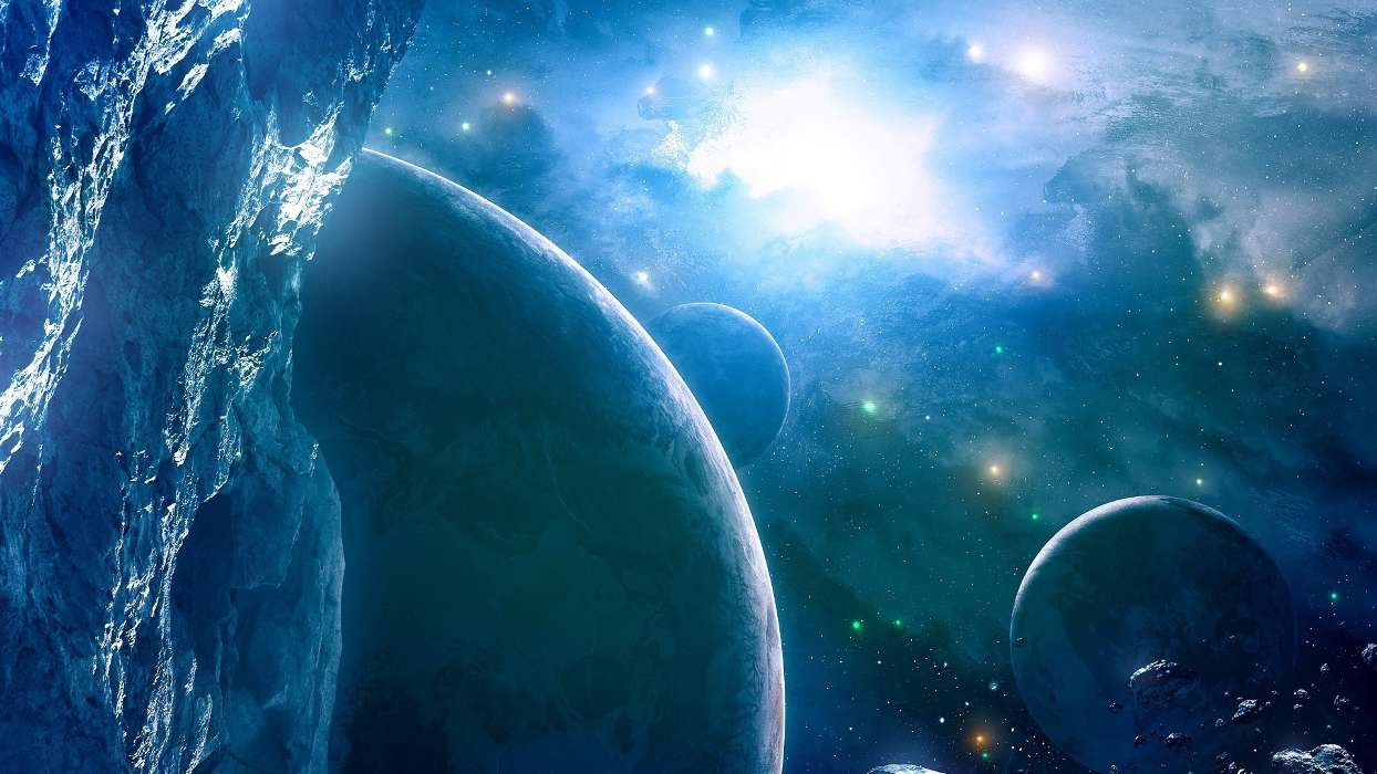 Download mobile wallpaper Fantasy, Planets, Universe for free.