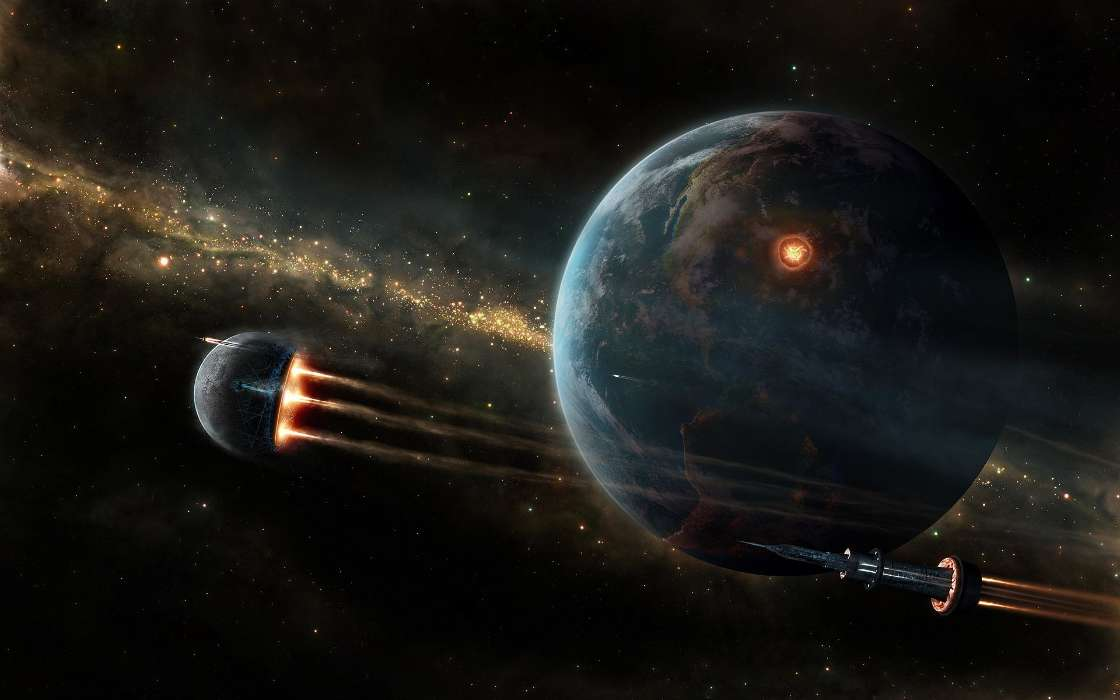 Download mobile wallpaper Fantasy, Planets for free.