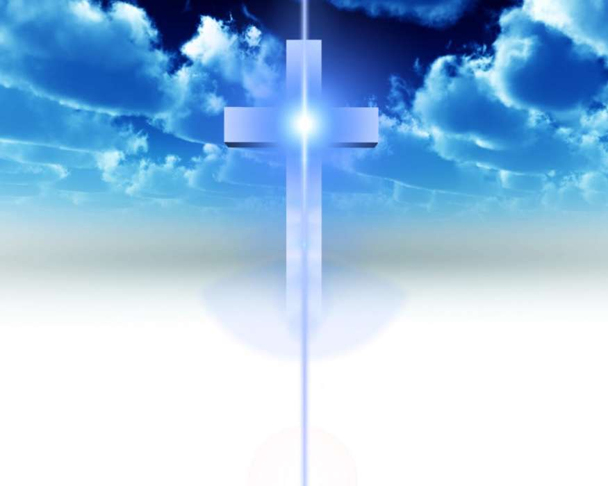 Download mobile wallpaper Background, Sky, Crosses for free.