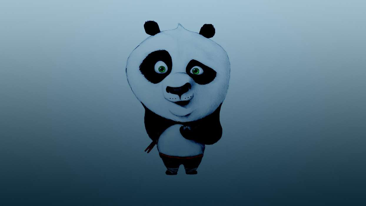 Download mobile wallpaper Cartoon, Panda Kung-Fu, Background for free.