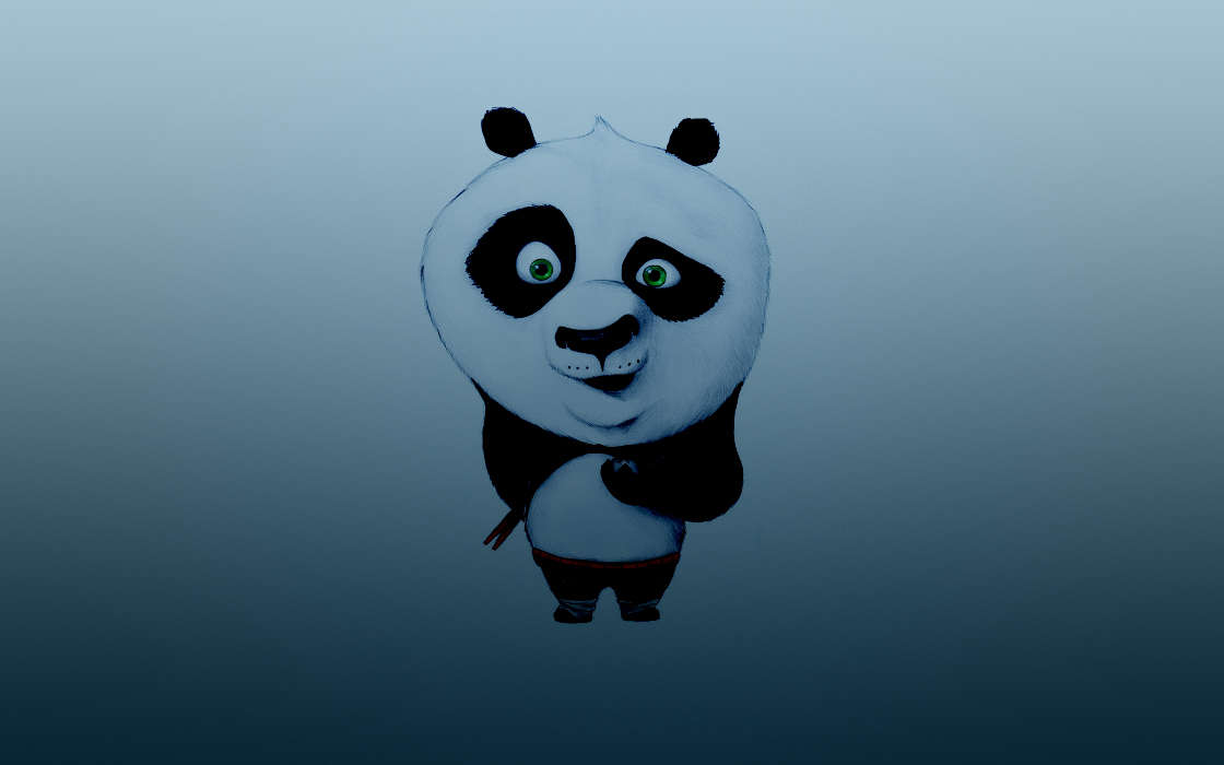 Download mobile wallpaper Cartoon, Animals, Panda Kung-Fu, Background, Pandas for free.