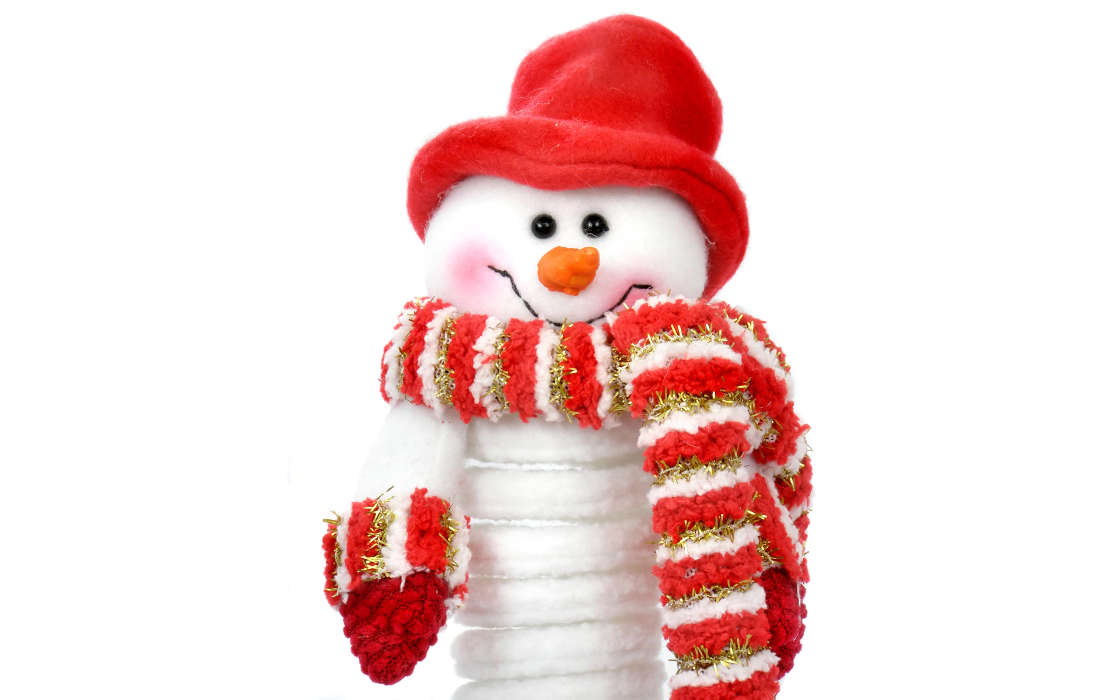 Download mobile wallpaper Holidays, Winter, Background, New Year, Snowman for free.