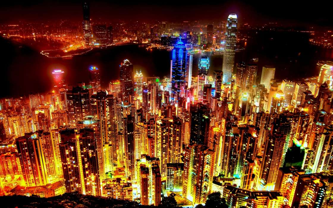 Download mobile wallpaper Landscape, Cities, Night for free.
