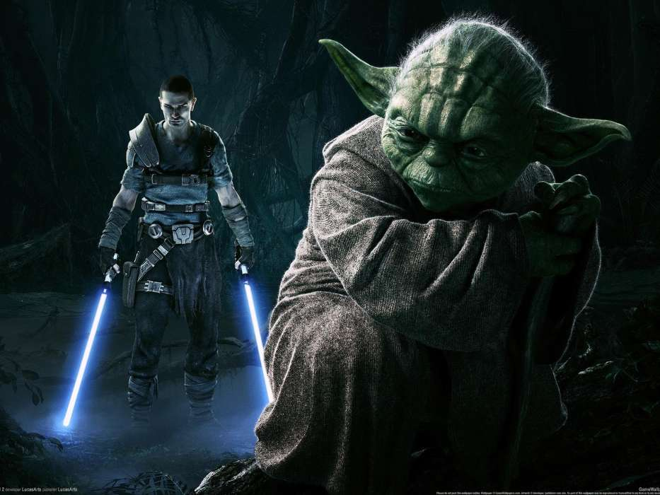 Download mobile wallpaper Games, Star wars, Master Yoda for free.