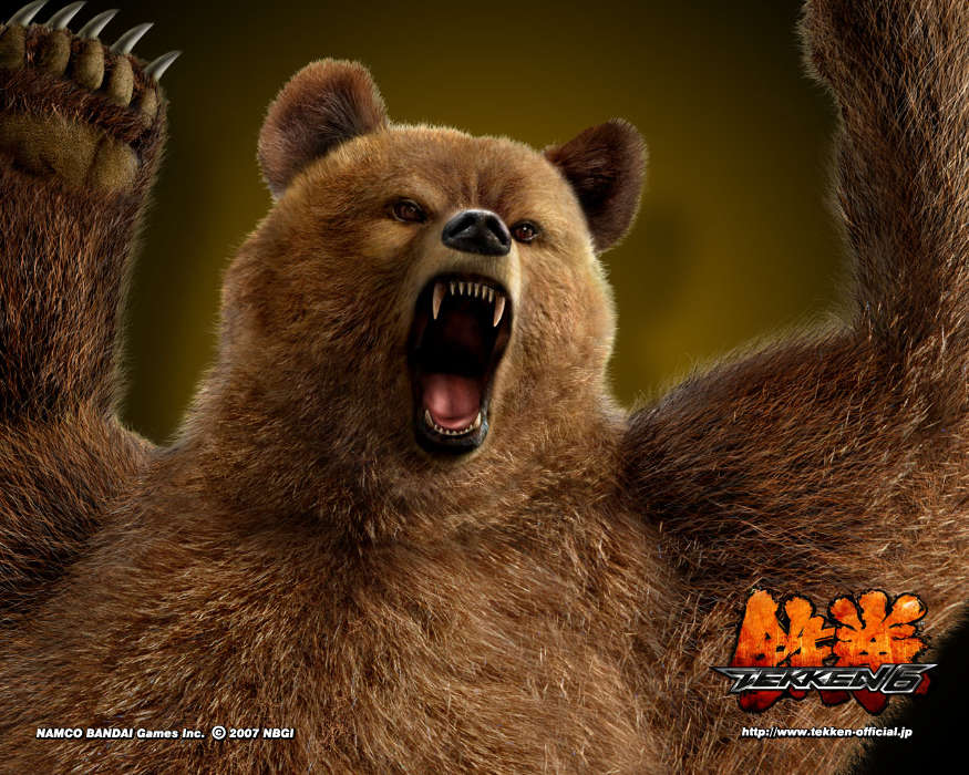 Download mobile wallpaper Games, Bears, Tekken for free.