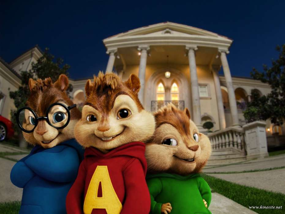 Download mobile wallpaper Cartoon, Cinema, Animals, Rodents, Alvin and the Chipmunks, Chipmunks for free.