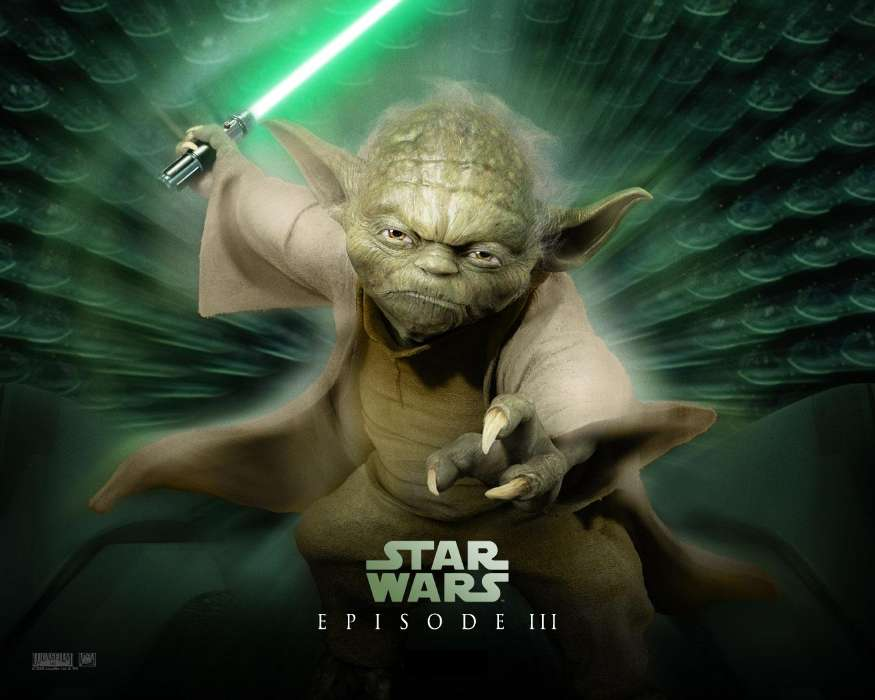Download mobile wallpaper Cinema, Star wars, Master Yoda for free.