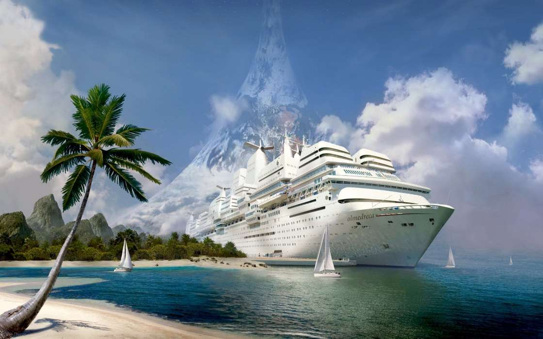 Картинка шикарного корабля