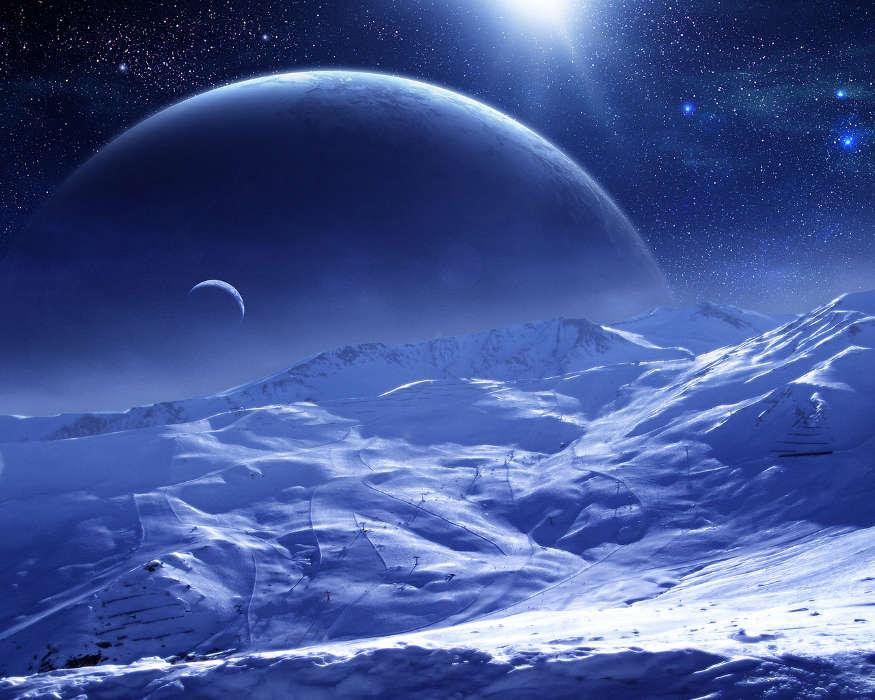 Космос с планетой картинки