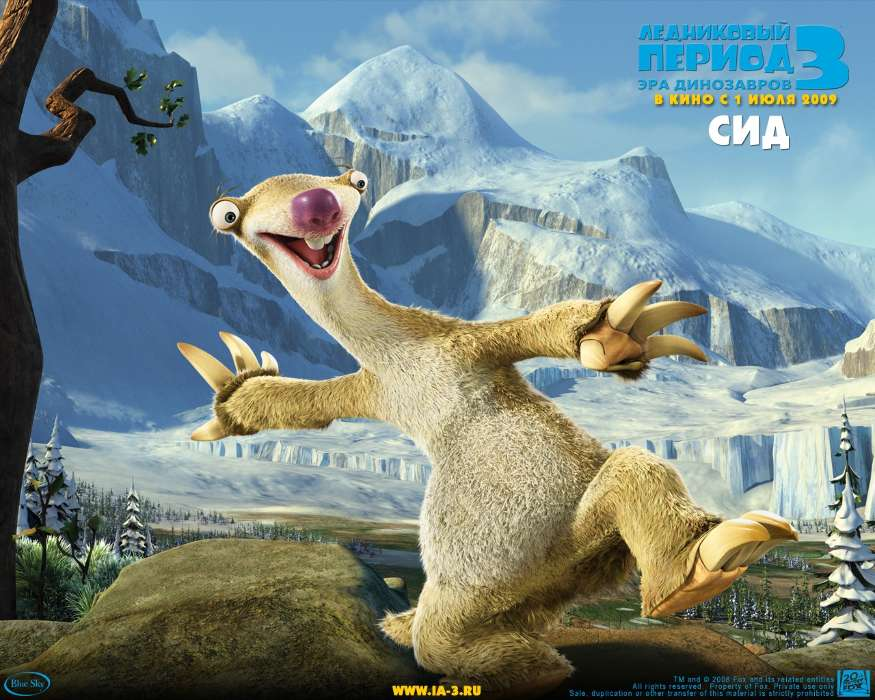 Download mobile wallpaper Cartoon, Ice Age, Sid for free.