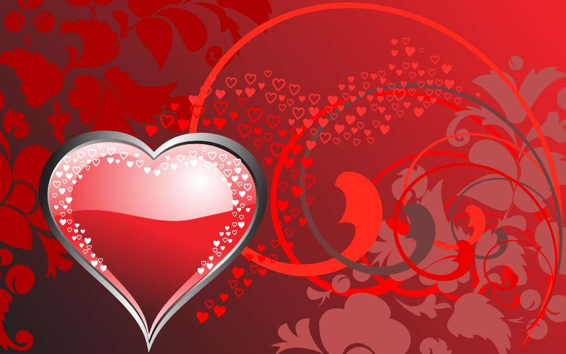 Открытка сердечко с днем святого валентина
