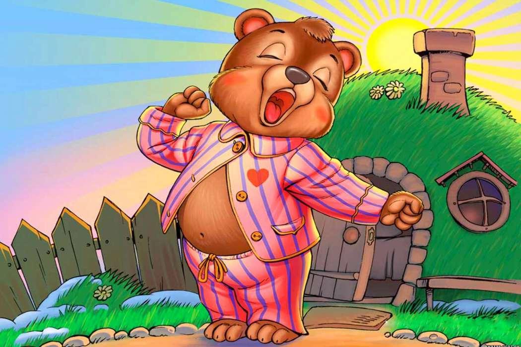 смотреть картинки с добрым утром медведями водой него