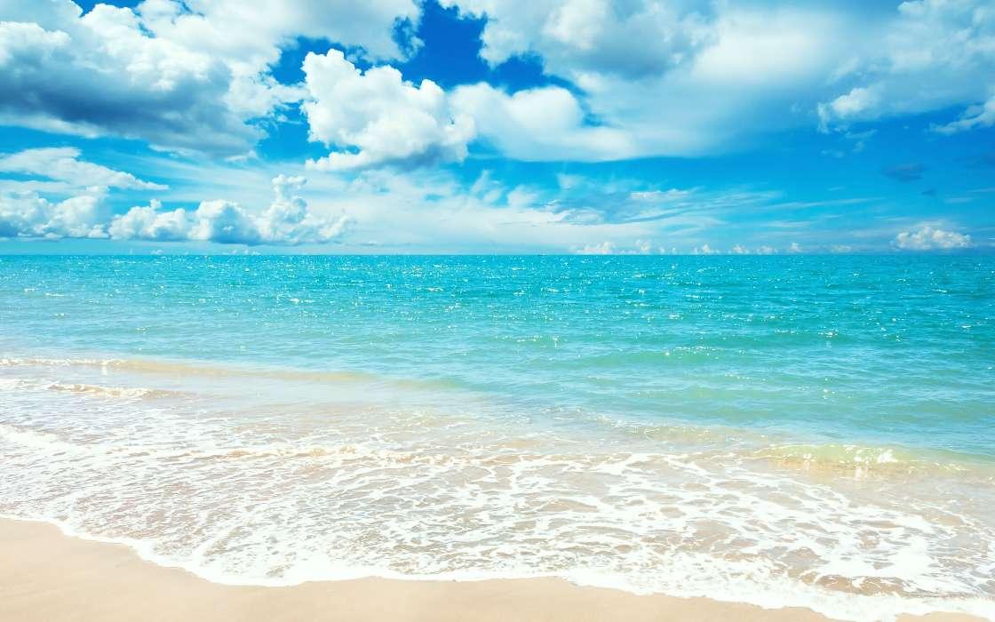 Download Bilder Fur Das Handy Landschaft Sky Sea Clouds Strand Kostenlos 20726