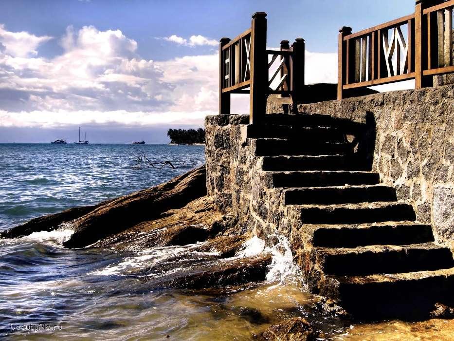 картинки лестницы к морю красок для работ