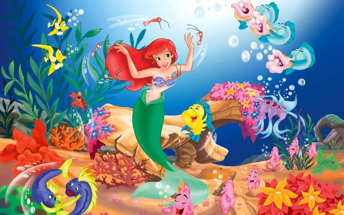 Download mobile wallpaper Cartoon, The Little Mermaid for free.