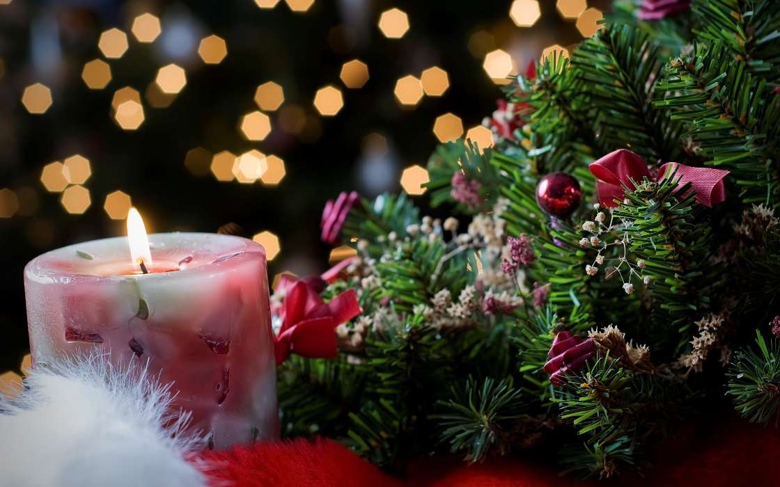 Download mobile wallpaper Holidays, New Year, Candles for free.