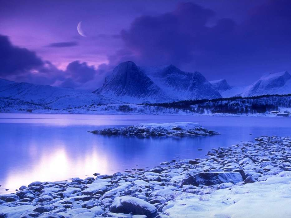 Download mobile wallpaper Landscape, Winter, Nature, Snow for free.