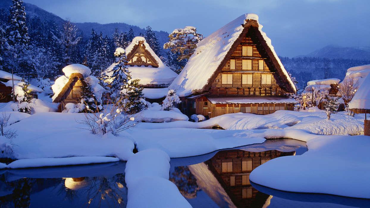 イメージを携帯電話にダウンロード 風景 冬 雪 無料 36024