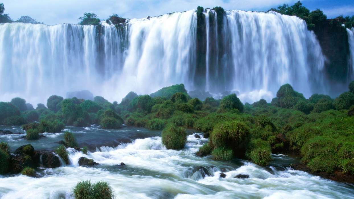 Download mobile wallpaper Landscape, Waterfalls for free.