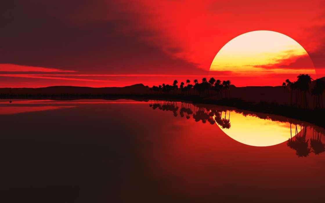 Прикольные картинки на закате, картинки приколы
