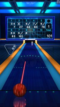 Bowling Action - Symbian-Spiel Screenshots. Spielszene Action Bowling.
