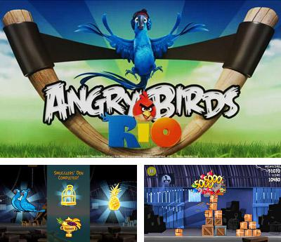 In addition to the sis game Orbit Eater for Symbian phones, you can also download Angry birds Rio for free.