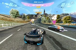Asfalto 6 Adrenalina HD  - Screenshots do jogo para Symbian. Jogabilidade do Asphalt 6 Adrenaline HD.