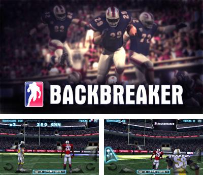 In addition to the sis game Davis cup tennis for Symbian phones, you can also download Backbreaker Football for free.