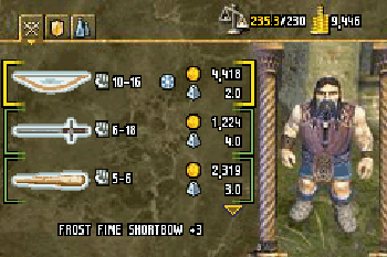 Baldur´s Tor: Dunkle Allianz - Symbian-Spiel Screenshots. Spielszene Baldur's Gate: Dark Alliance.