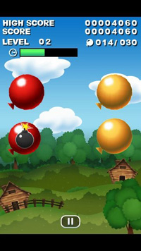 Ballon-Spiel - Symbian-Spiel Screenshots. Spielszene Balloon Game.