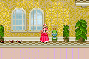 Barbie: 12 tanzende Prinzessinnen - Symbian-Spiel Screenshots. Spielszene Barbie: The 12 Dancing Princesses.