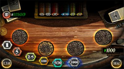 Blackjack Caribbean - Symbian game screenshots. Gameplay Blackjack Caribbean.