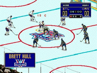 Brett Hull hockey 95 - Symbian game screenshots. Gameplay Brett Hull hockey 95.